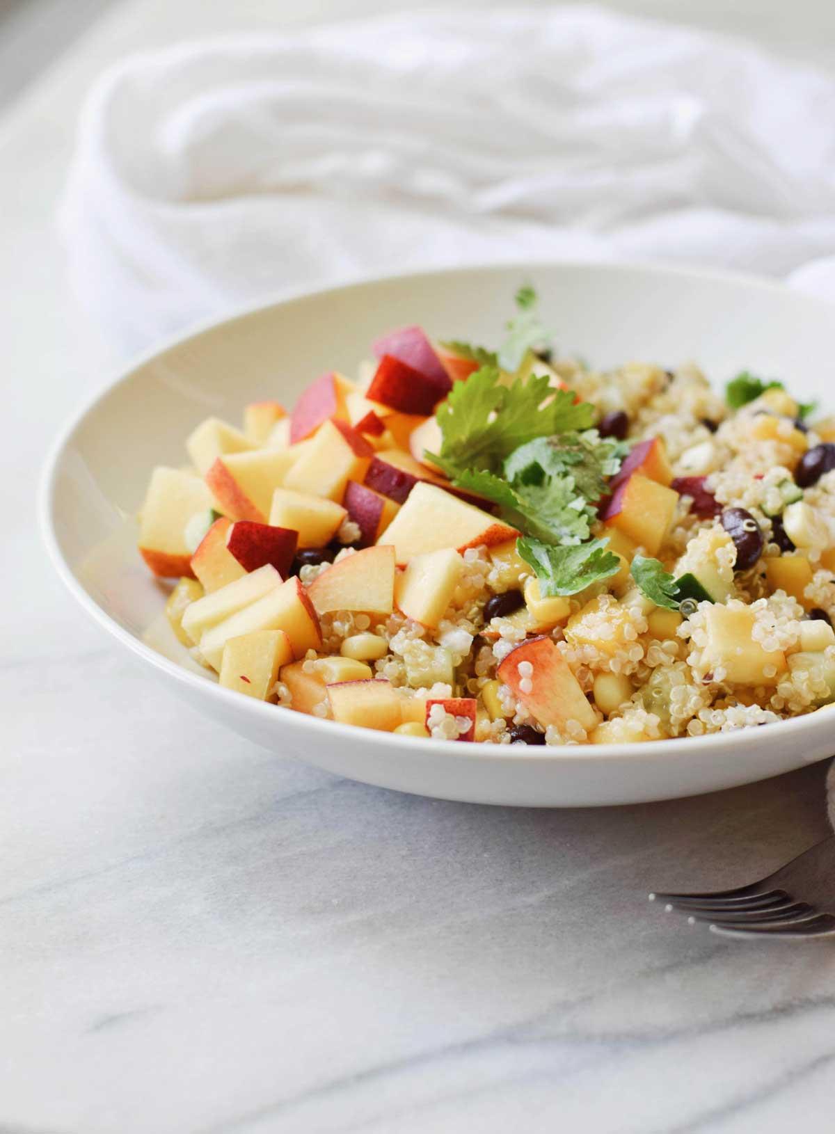 Peach Quinoa Salad