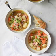 25 Minute Ham and White Bean Soup