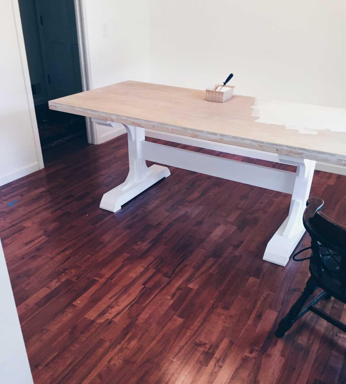 A DIY DINING ROOM TABLE – Rachel Schultz