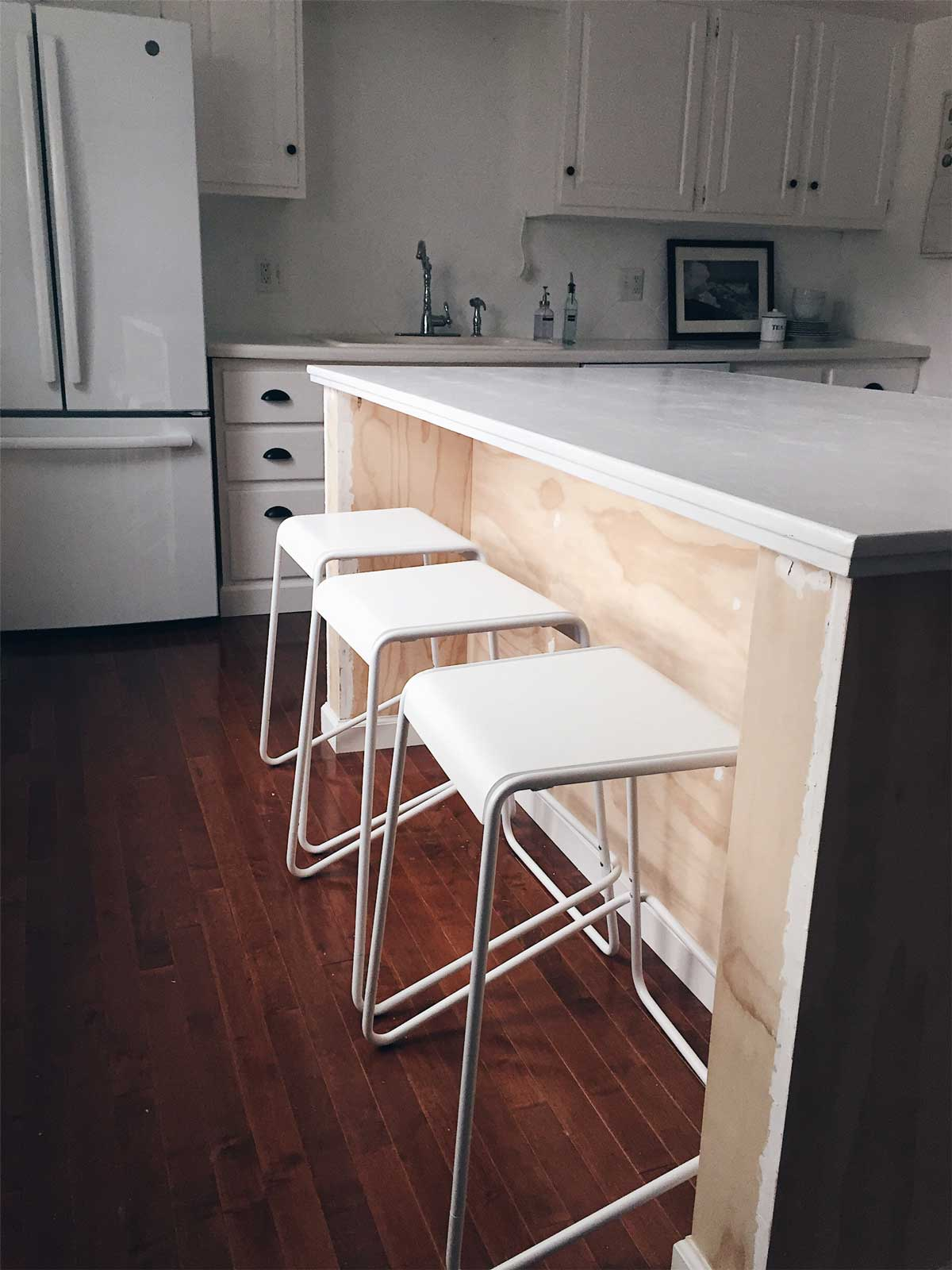 Rachel Schultz On Homemaking Wiring An Outlet For A Microwave Next Was The We Had Our Electrician Install Into Base Of Platform Cabinets Sit That Could