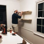DIY FLOATING SHELVES FOR OPEN KITCHEN SHELVING