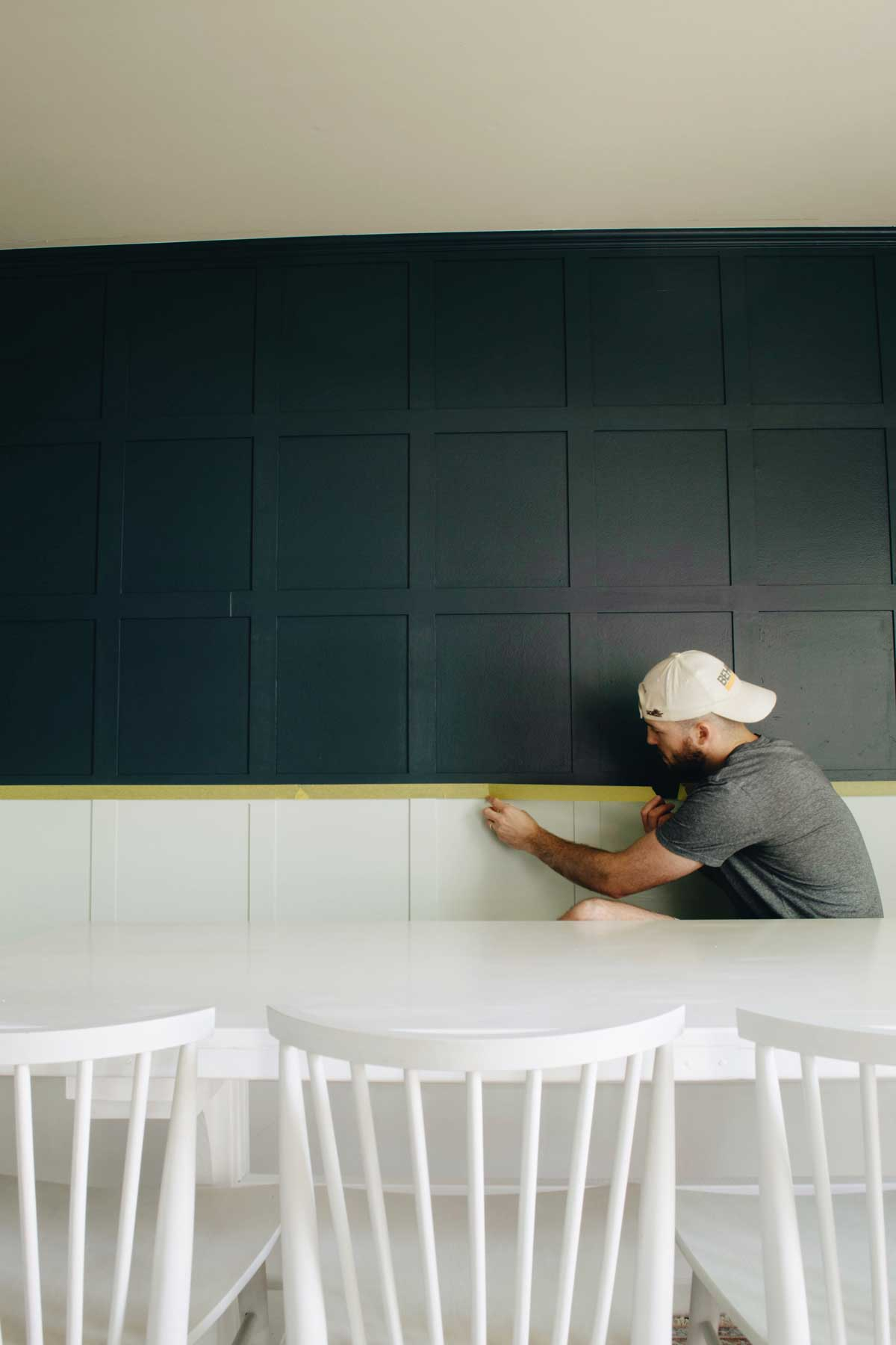 Wall Paneling DIY and Colorblock Painting