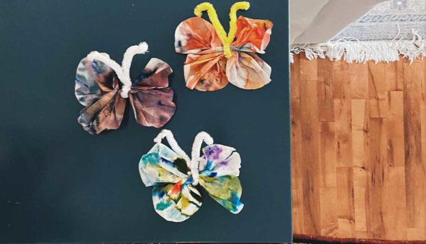 Coffee Filter Butterflies Craft