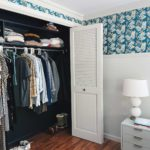 PAINTING A CLOSET NAVY BLUE